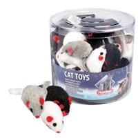 Karlie Peluş Tüylü Fare Kedi Oyuncağı 12 cm Beyaz