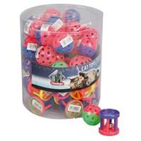 Çıngıraklı, top silindir şeklinde oyuncak 4 cm