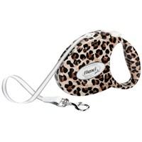 Flexi Fashıon Ladıes Medıum Leopard Otomatik Tasma