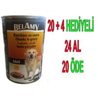 Belamy Tavuklu Yetişkin Köpek Konservesi 400 Gr 24'Lü