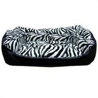 Pet Style Deri Köpek Yatağı Zebra Desenli No:2