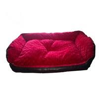Pet Style Deri Köpek Ve Kedi Yatağı Kırmızı No:4