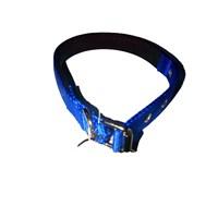 Pet Style Yumuşak Dokulu Mavi Köpek Boyun Tasması Orta 25 Mm X 43 - 52 Cm
