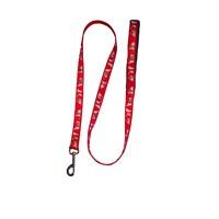 Pet Style Desenli Köpek Gezdirme Tasması Kırmızı 25 Mm X 120 Cm