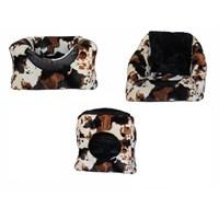 Pet Style 3 Fonksiyonlu Kedi Kahverengi Alacalı Desenli 50 X 50 X 50 Cm