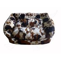 Pet Style Tay Tüyü Köpek Yatağı Kahve Alacalı No:2 75 X 55 X 10 Cm