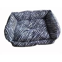 Pet Style Tay Tüyü Kumaş Köpek Yatağı Zebra No:3 90 X 70 X 10 Cm