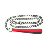 Pet Style Yumuşak Dokulu Köpek Zincir Gezdirme Tasması Kırmızı 120 Cm X 40 Mm