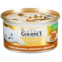 Gourmet Gold Kıyılmış Ördekli Havuçlu Ve Ispanaklı Konserve Kedi Maması 85Gr