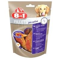 8in1 Poch Fillets Pro Active Tavuk Etli Glukozamin Destekli Köpek Ödülü 80Gr