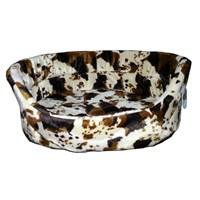 Pet Style Tay Tüyü Alacalı Kahverengi Desenli Kedi Ve Küçük Irk Köpek Yatağı Medium