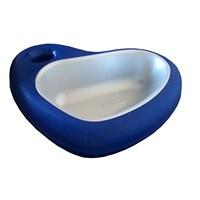 Mio Kedi Ve Köpekler İçin Kalp Şeklinde Mama Kabı 29 X 22 X 6.5Cm Mavi