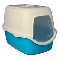 Stefanplast Cathy Filtreli Kedi Tuvaleti Turkuaz-Beyaz 56X40x40cm
