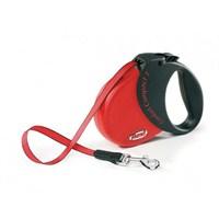Flexi Comfort Compact 1 Kırmızı Otomatik Şerit 5 Mt Gezdirme Tasması