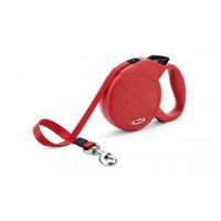 Flexi Classic Compact 3 Kırmızı Otomatik Şerit 5 Mt Gezdirme Tasması