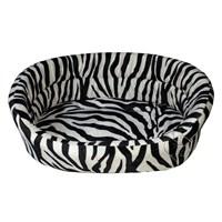 Pet Pretty Tay Tüyü Kedi Ve Küçük Irk Köpek Yatağı Zebra Desenli Medium