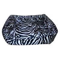 Pet Pretty Tay Tüyü Köpek Yatağı Zebra Desenli No:1 50 X 40 X 10 Cm