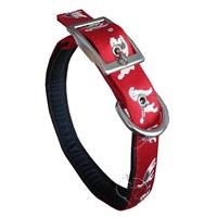 Pet Style Yumuşak Dokulu Desenli Boyun Tasması Kırmızı 3 Cm X 65 Cm