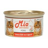 Mio Dana Etli Ve Ciğerli Yetişkin Kedi Konservesi 85Gr