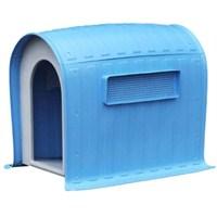 Dr.Sacchi Mavi Çatılı Plastik Köpek Kulübesi Oval Hc003a 99 X 66.5 X 92.5 Cm