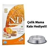 N&D Düşük Tahıllı Morina Balıklı Ve Portakallı Yetişkin Köpek Maması 12 Kg Çelik Mama Ve Su Kabı Hediyeli!
