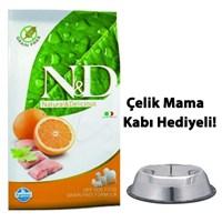 N&D Büyük Irk Balıklı Ve Portakallı Yetişkin Köpek Maması 12 Kg Çelik Mama Ve Su Kabı Hediyeli!