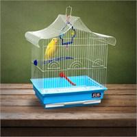 Flip Kıvrık Çatı Kafes Mavi 34,5*28*46Cm