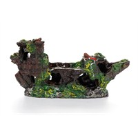 Akvaryum Dekor Tek Parça Delik Gemi