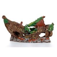 Akvaryum Dekor Tek Parça Orta Gemi