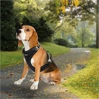 Outdoor Ergonomik Yansıtıcılı Köpek Göğüs Tasması L Siyah