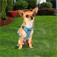 Outdoor Ergonomik Yansıtıcılı Köpek Göğüs Tasması S Mavi