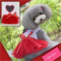 Kemique My Heart Tütülü Elbise - Kırmızı