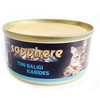 Sapphere Ton Balıklı Ve Karidesli Kedi Konserve Maması 80 Gr