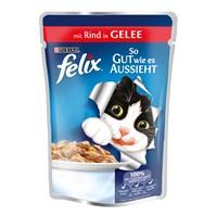 Felix Yetişkin Kediler İçin Sığır Etli Yaş Kedi Maması Pouch 100 Gr