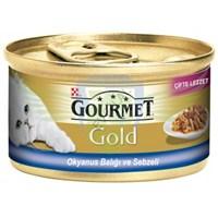 Purina Gourmet Gold Çifte Lezzet Okyanus Balığı ve Sebzeli Konserve Yaş Kedi Maması 85 Gr (1 adet )