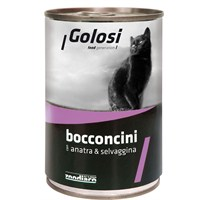 Golosi Chunks / Bocconcini Cat Ördek ve Av Hayvanlı Kedi Konservesi 400 Gr fd*