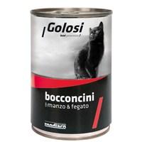 Golosi Chunks / Bocconcini Cat Sığır Etli ve Ciğerli Kedi Konservesi 400 Gr fd*