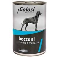Golosi Chunks / Bocconi Dog Ton Balıklı ve Morina Balıklı Köpek Konservesi 400 Gr