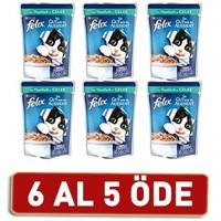 Felix Yetişkin Kediler İçin Ton Balıklı Yaş Kedi Maması Pouch 6 Al 5 Öde! 6 X 100 Gr