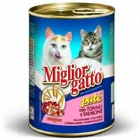 Miglior Gatto Ezme Balıklı Kedi Konservesi 405 Gr 20+4 Hediyeli