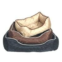 Ranna Lüx Dikdörtgen Şeklinde Köpek Yatağı Siyah L 90X70x20 Cm