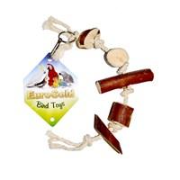 Eurogold Doğal Ağaç Dilimli İpli Kuş Oyuncağı 60-65 Cm