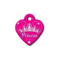 Quick Tag Kedi Ve Köpek İsimlik, Kalp, Pembe, Prenses, Küçük