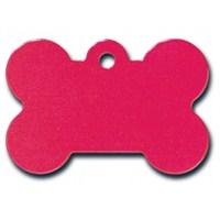 Quick Tag Köpek İsimlik, Kemik, Kırmızı, Büyük