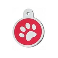 Quick Tag Kedi Ve Köpek İsimlik, Madalyon, Epoxy Krom, Kırmı