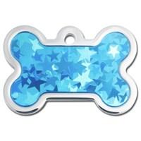 Quick Tag Köpek İsimlik, Kemik, Mavi Halogram, Büyük