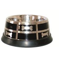 Lıon Çelik Mama Kabı((Bone Prınt) 1 Qt. 900Ml)