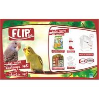 Flip Kuş Kafes Seti Beyaz