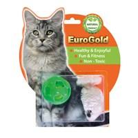 Eurogold Zilli Top & Pastel Fare 2'Li Kedi Oyuncağı