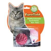 Eurogold Tüylü Fare & Parlak Top 2'Li Kedi Oyuncağı